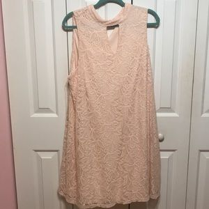 Pink Plus Size Lace Dress